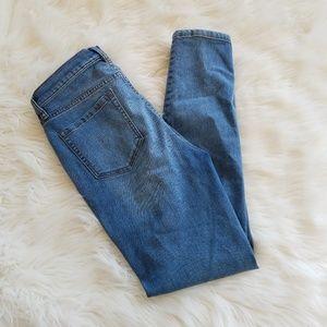 Free People Medium Wash Stretch Skinny Jeans 29